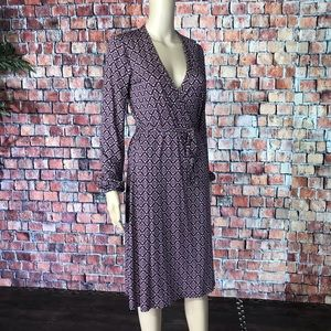 NWT Boden Red & Blue Elodie Jersey Wrap dress 4